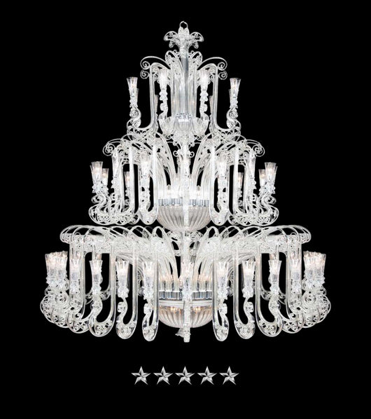 Royal Majestic Grand Crystal Glass Chandelier - Grand Entrance Chandelier