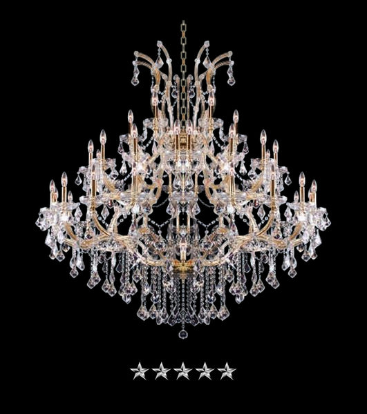 Maria Theresa Grand Golden Crystal Chandelier - Grand Entrance Chandelier