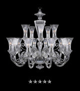 Clear Cristal Glass Chandelier - Grand Entrance Chandelier