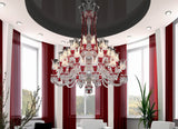 36 Light Multi Tier Red Crystal Chandelier - Grand Entrance Chandelier