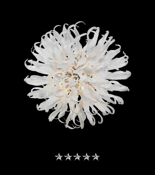 Apollo White Crystal Glass Chandelier - Grand Entrance Chandelier
