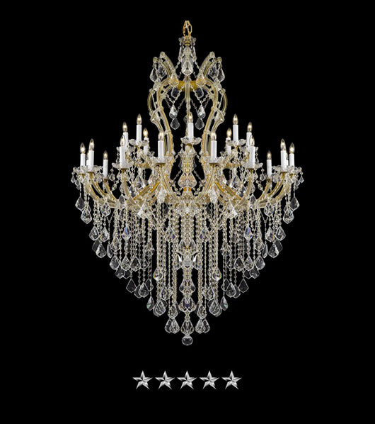 Maria Theresa Gold Lustre Crystal Chandelier - Grand Entrance Chandelier