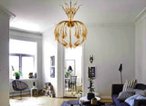 Borneo Honey Glass Chandelier - Grand Entrance Chandelier