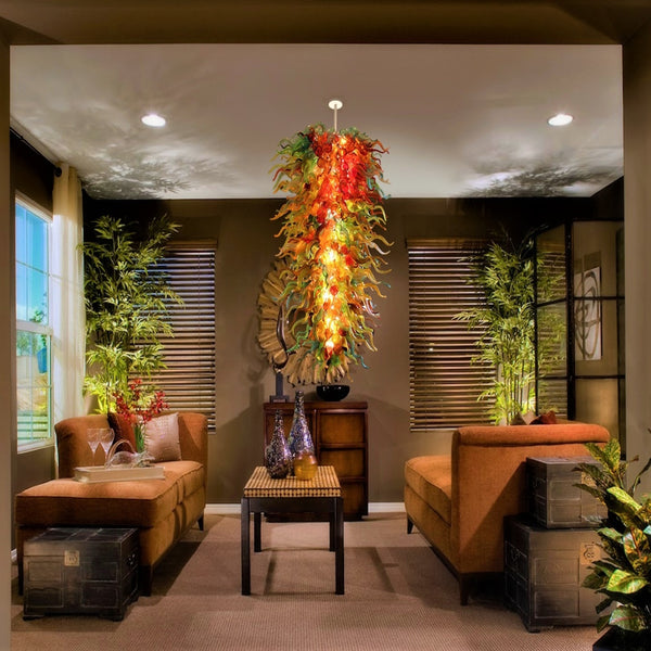 Organic Flare Hand Blown Glass Chandelier - Grand Entrance Chandelier