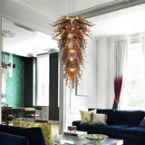 Sandy Blue Hand Blown Chandelier - Grand Entrance Chandelier