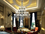 Saint Louis Harlequin Grand Chrome 48 Light Crystal Chandelier - Grand Entrance Chandelier