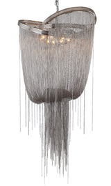 Textured Satin Gowned Chain Chandelier - Grand Entrance Chandelier
