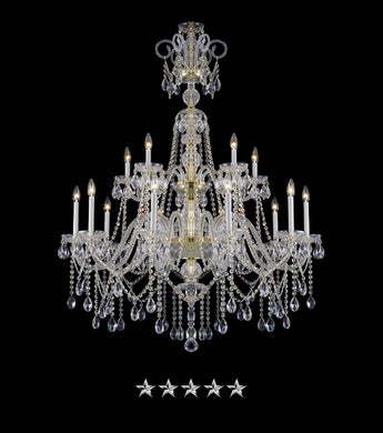 Bohemian Draped Gold Crystal Chandelier - Grand Entrance Chandelier