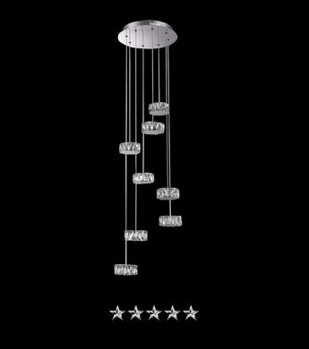 Showered Knell Crystal Chandelier - Grand Entrance Chandelier