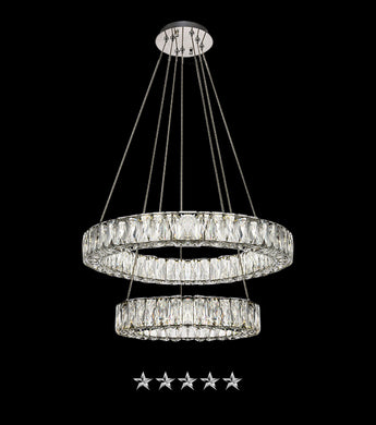 Two Dimensional Crystal Chandelier - Grand Entrance Chandelier