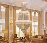 Gold Pendant Empire Chandelier - Grand Entrance Chandelier