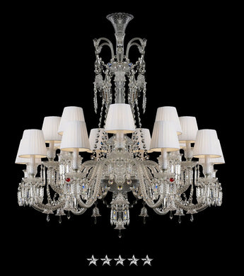 Clear Zenith Crystal Chandelier - Grand Entrance Chandelier