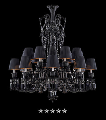 Black Zenith Empire Crystal Chandelier - Grand Entrance Chandelier