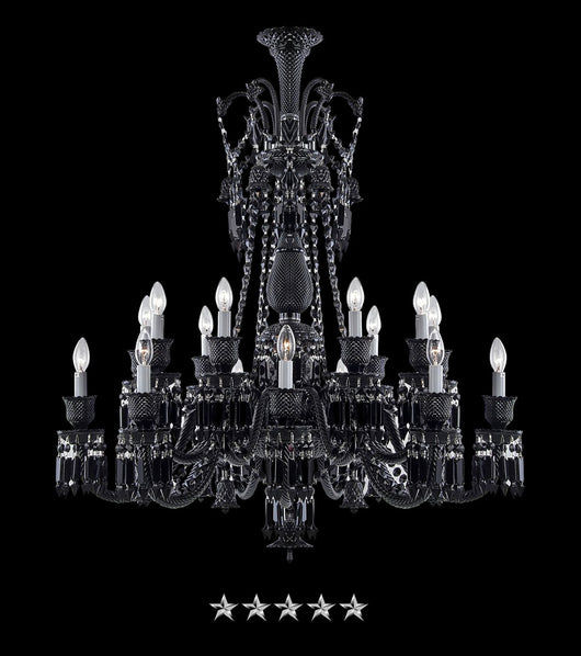 Black Draped Crystal Chandelier - Grand Entrance Chandelier