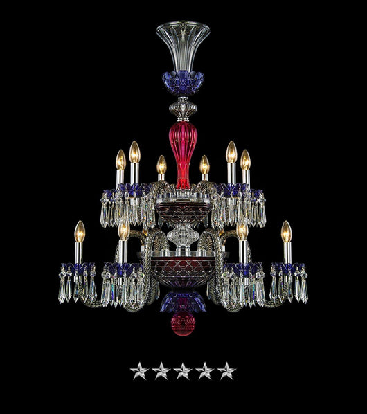 Royal Saint Louis Crystal 12 Light Chandelier - Grand Entrance Chandelier