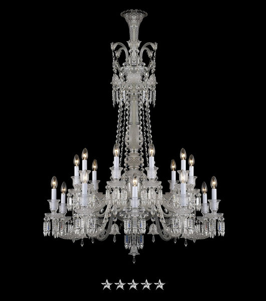 Draped Crystal Chandelier - Grand Entrance Chandelier