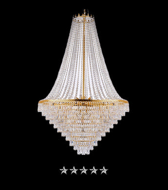 24K Clear Crystal Chandelier - Grand Entrance Chandelier