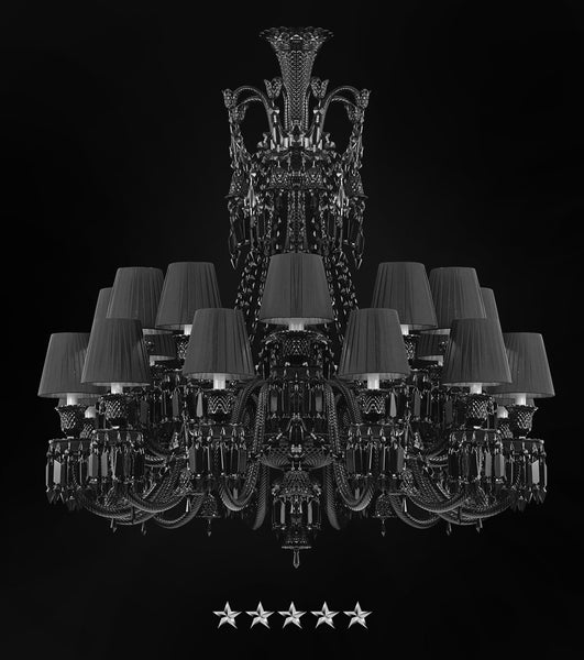 Shaded Empire Black Crystal Chandelier - Grand Entrance Chandelier