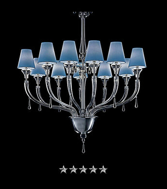 Blues Shade Murano Chandelier - Grand Entrance Chandelier