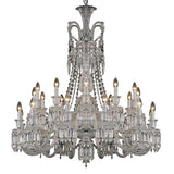 Crystal Clear Cascading Chandelier - Grand Entrance Chandelier