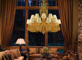 Amber Crystal Zenith Chandelier - Grand Entrance Chandelier