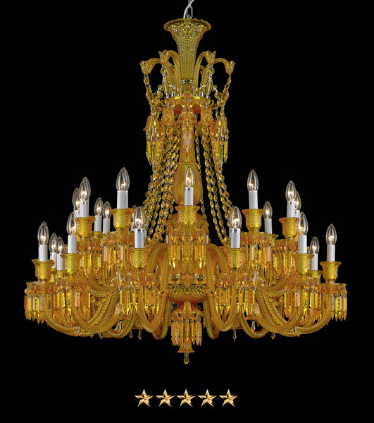 Amber Translucent Crystal Chandelier - Grand Entrance Chandelier