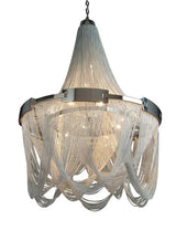 Suspended Sleek Satin Chain Chandelier - Grand Entrance Chandelier
