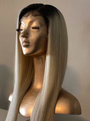 CUSTOM HAND STITCHED 1B/613 STRAIGHT WIG