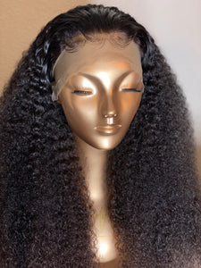 CUSTOM HAND STITCHED LACE FRONT KINKY CURLY WIG