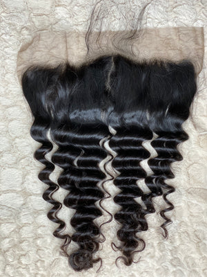 13x4 Lace Frontal #1B Exotic Wave