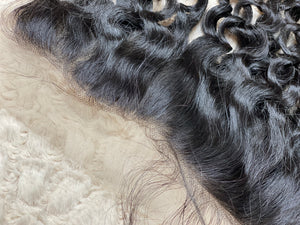 13x4 Lace Frontal #1B French Curly