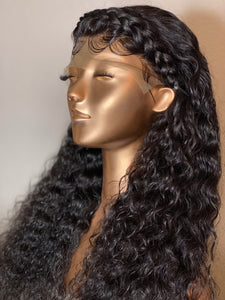 CUSTOM HAND STITCHED LACE FRONT CURLY WIG