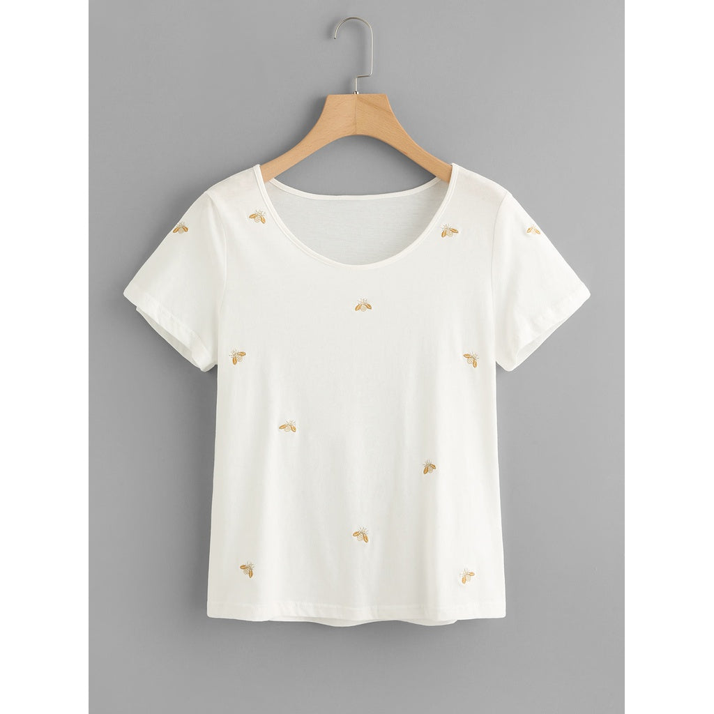 BEE EMBROIDERED T-SHIRT