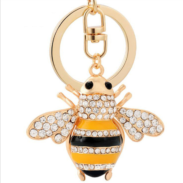 Save The Bees Car Keychain
