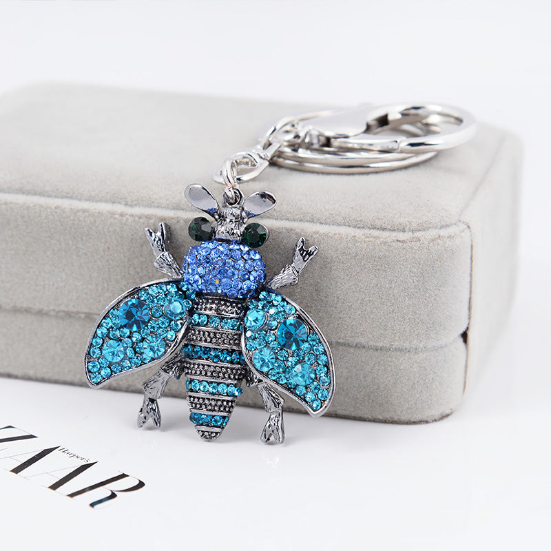 Save The Bees Multicolor Keychain