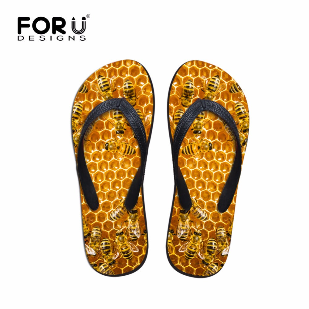 Men's Bee Rubber Flip Flops