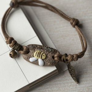 Save Our Bees Ceramic Bee Bracelet