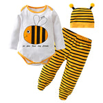 Baby Boy / Girl Bee Clothes Newborn Baby Clothing Set