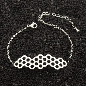 Save The Bees Honey Comb Bracelet