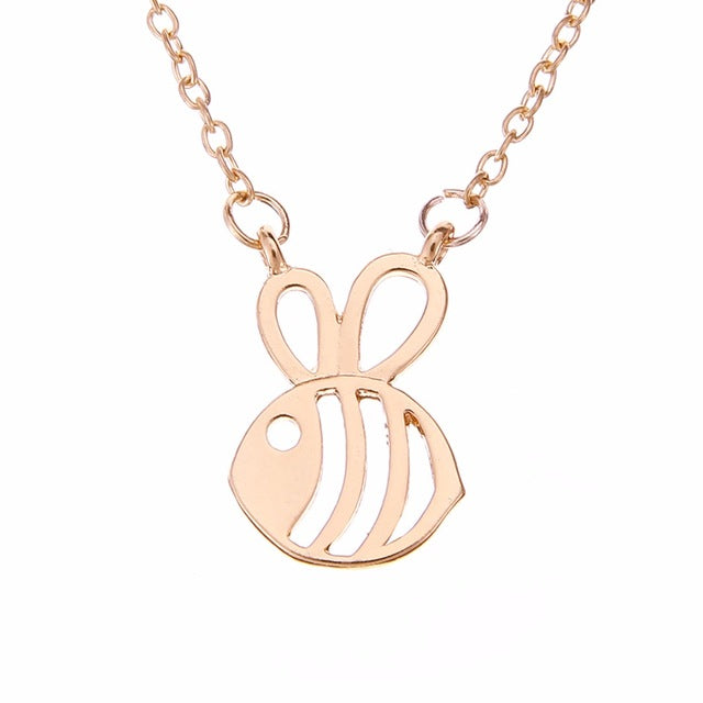 Cute Bee Chain Necklace - 3 Colors to Choose From