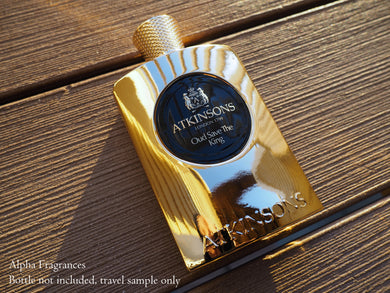 Atkinsons Oud Save The King (Eau de Parfum) - Travel Sample FREE SHIPPING