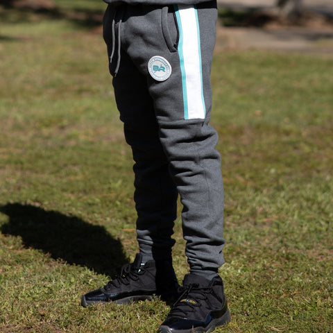 BR Mint & Gray Color Block Jogger Pants