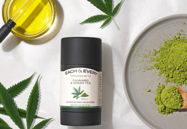 Each & Every's Cannabis & Green Tea has a fresh, herbal and slightly sweet scent.