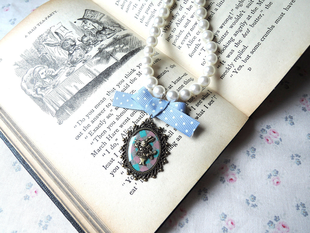 Alice in Wonderland Cameo Necklace