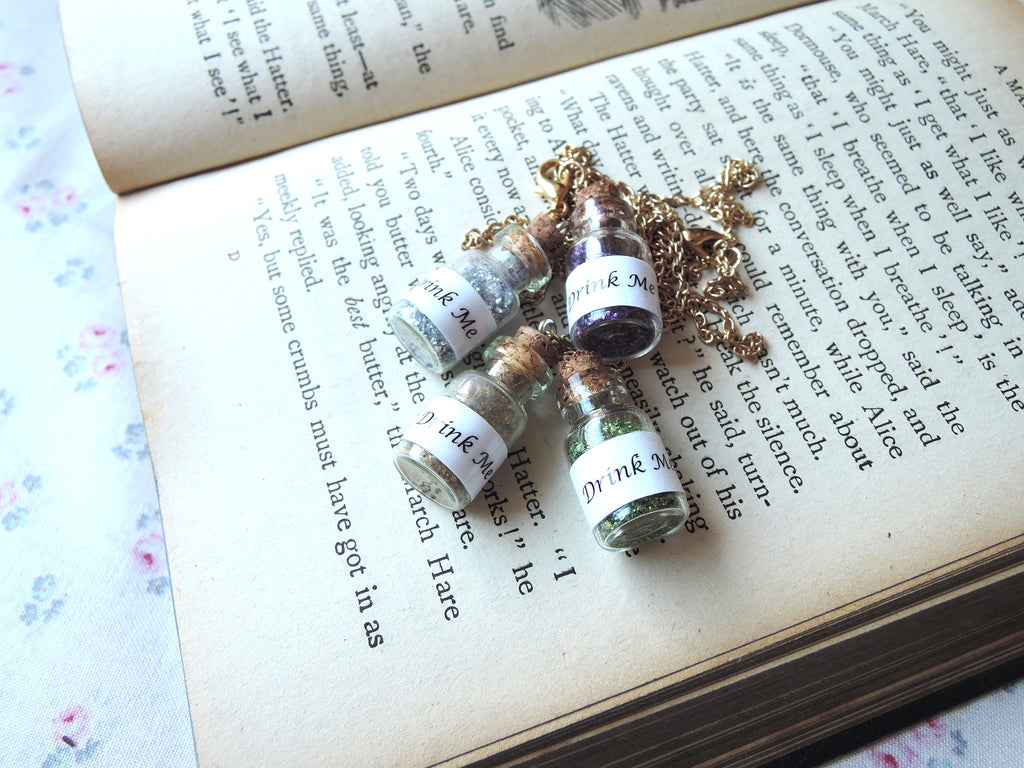 Alice 'Drink Me'Potion Necklace