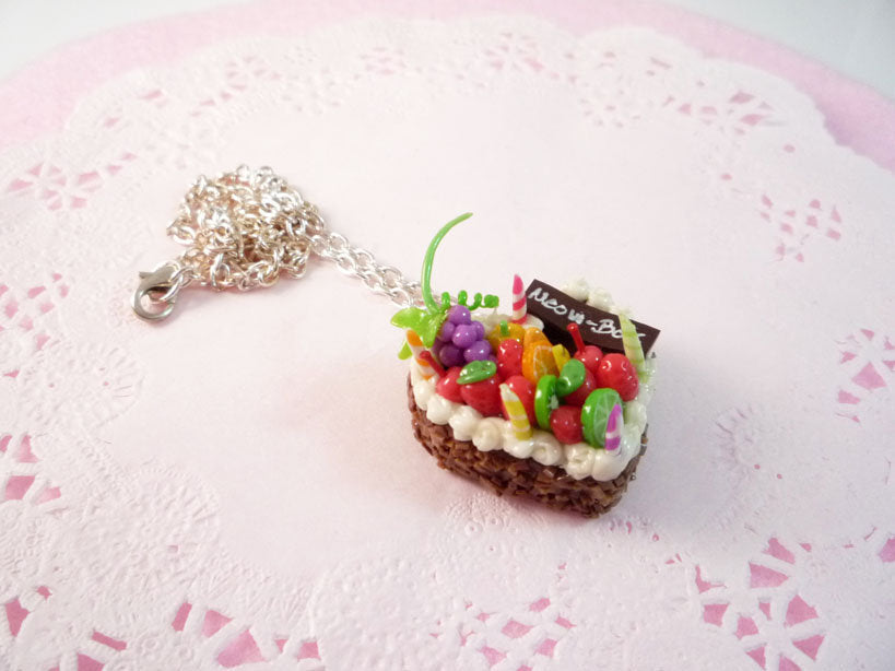 Fruity Heart Cake Necklace
