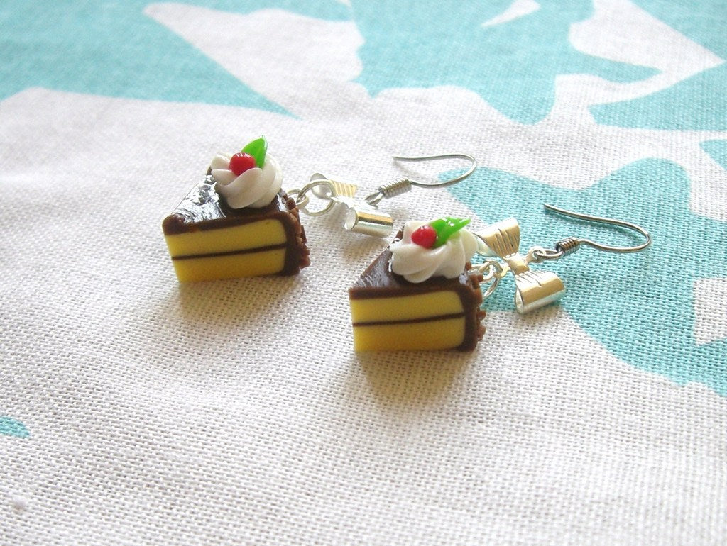Sweet Chocolate Cake Earrings