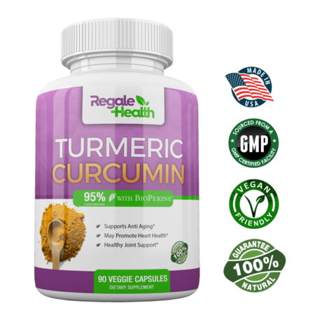 High Potency  Turmeric Curcumin Capsules with Bioperine (Black Pepper Extract)