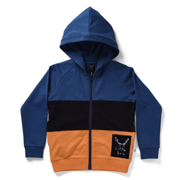 Littlehorn Split Zip Through Hoodie/ Multi