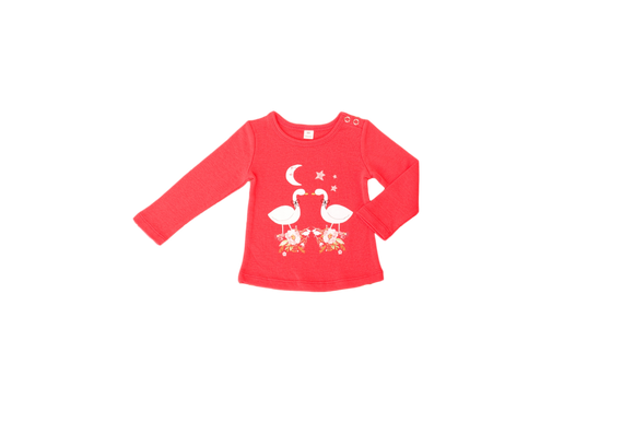 Little Bubba Swan L/S Tee -Red *** Now 30% Off